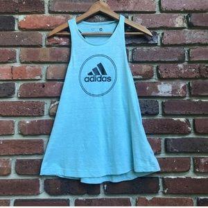 adidas Tops - Adidas Blue Black Racer Back Workout Tank